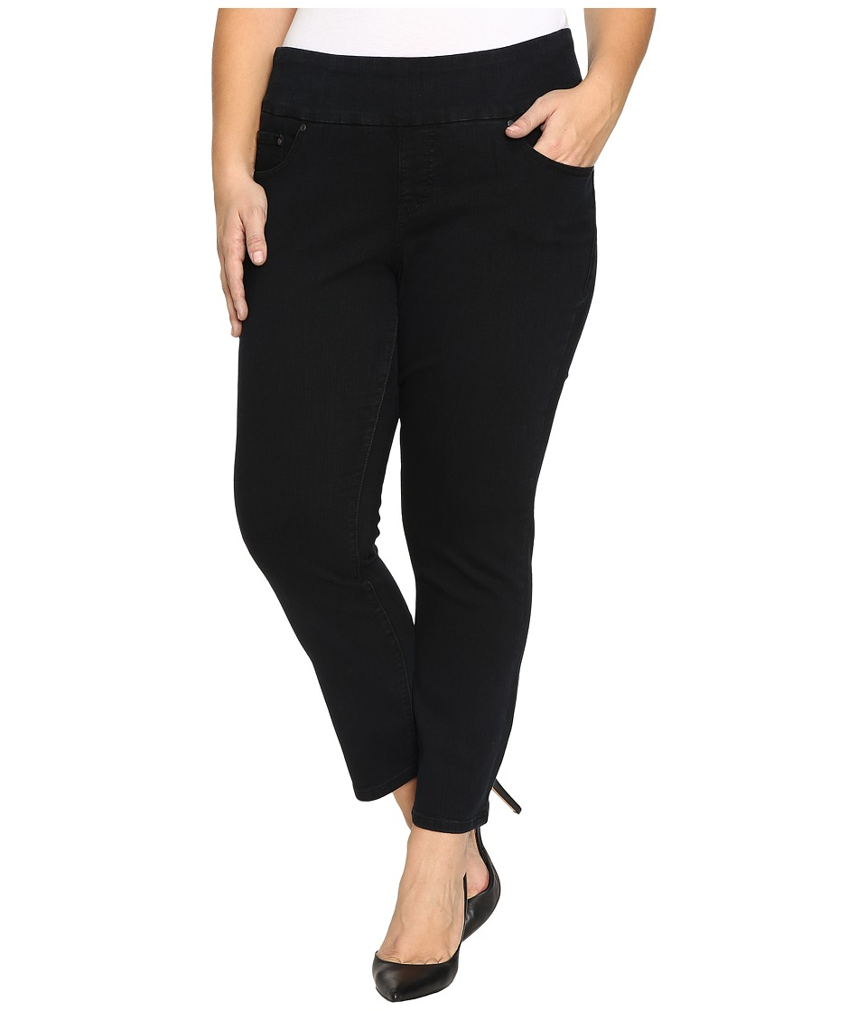 Jag Jeans Plus Size Plus Size Amelia Pull-On Slim Ankle Comfort Denim in Black Void (Black Void) Women