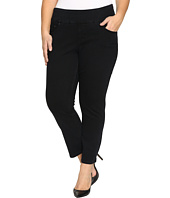 Jag Jeans Plus Size - Plus Size Amelia Pull-On Slim Ankle Comfort Denim in Black Void