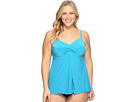 Plus Size Solid Love Knot Tankini Top