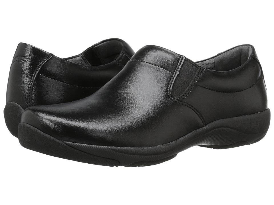 Dansko Ellie (Black Leather) Clogs