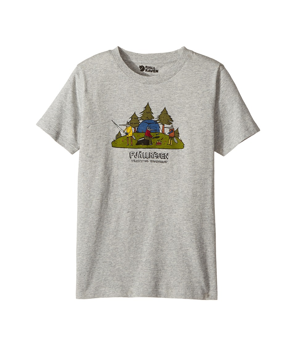 Fjallraven Kids - Camping Foxes T-Shirt (Toddler/Little Kids/Big Kids) (Grey) Boys T Shirt