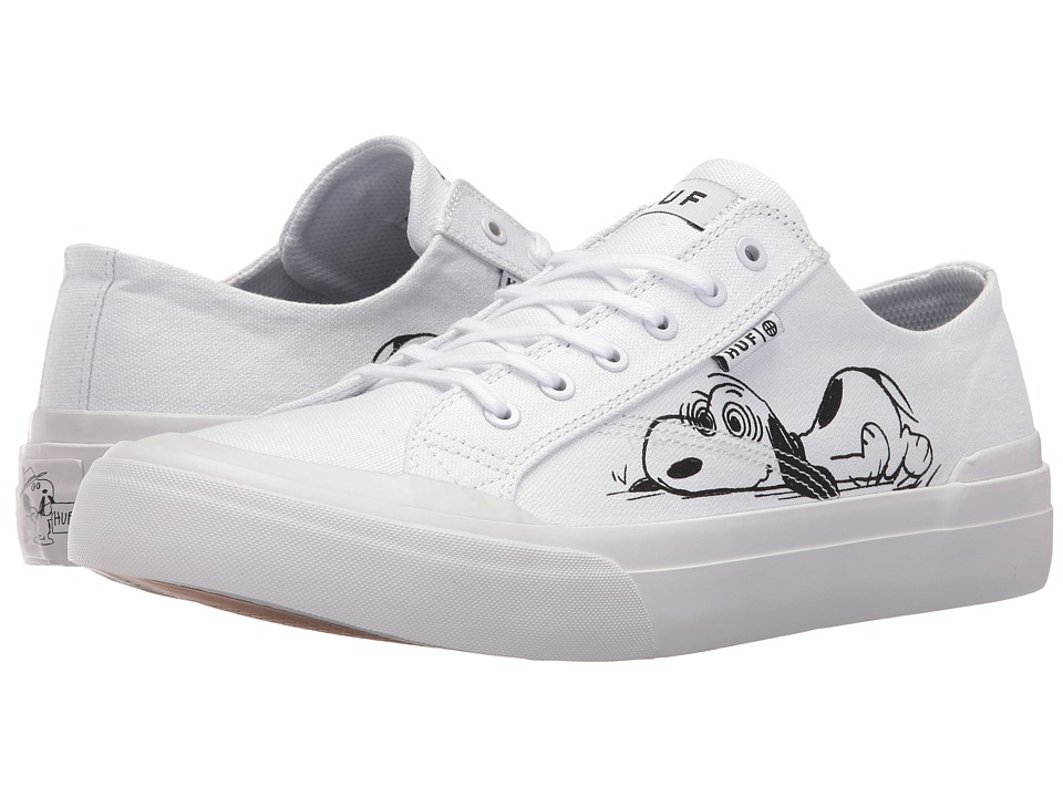 HUF - Classic Lo Peanuts (White/Black) Mens Skate Shoes