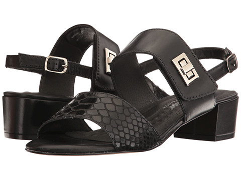Walking Cradles Milan - Black Leather/Black Cobra Print