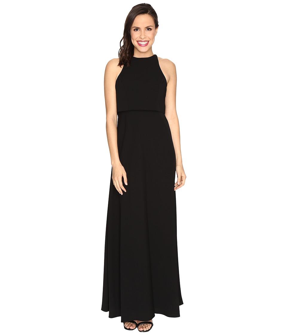 JILL JILL STUART Sleeveless Popover Two-Ply Crepe Gown (Black) Women