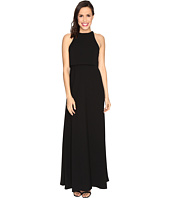 JILL JILL STUART - Sleeveless Popover Two-Ply Crepe Gown