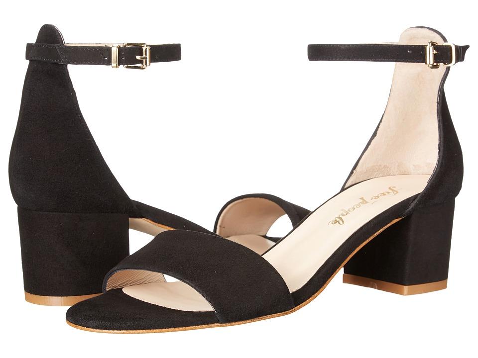 Free People Marigold Block Heel (Black) High Heels
