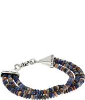 King Baby Studio - Triple Strand Orange Sodalite Bead Bracelet w/ Cone Clasp