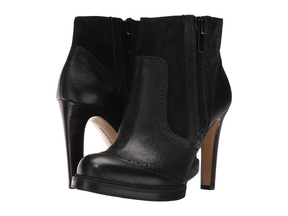 French Connection - Berta (Black Tumbled Leather) Women