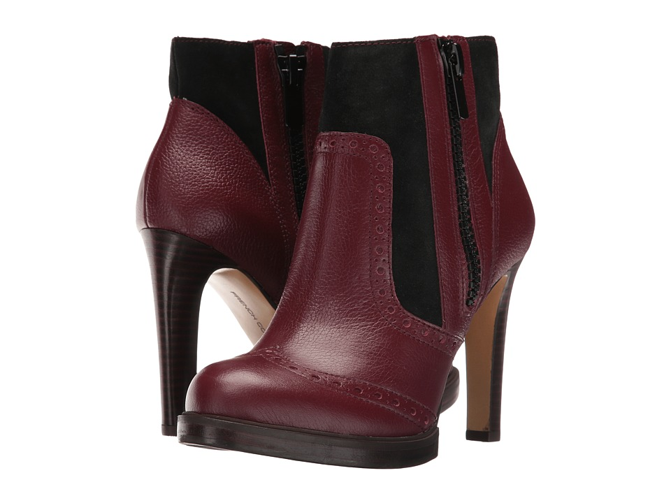 French Connection - Berta (Zinfandel/Black Tumbled Leather) Women
