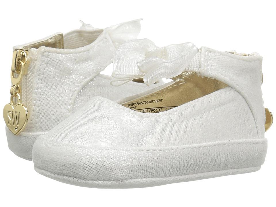 Stuart Weitzman Kids Baby Nantucket Bow (Infant/Toddler) (White) Girl's Shoes