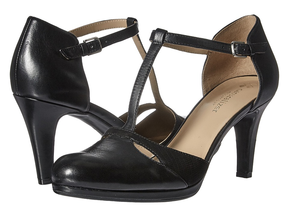 Vintage Style Shoes, Vintage Inspired Shoes Naturalizer - Megan Black Leather High Heels $89.99 AT vintagedancer.com