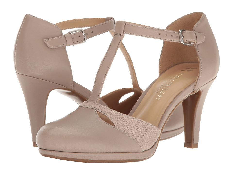 Retro Vintage Style Wide Shoes Naturalizer - Megan Dove Grey High Heels $99.00 AT vintagedancer.com