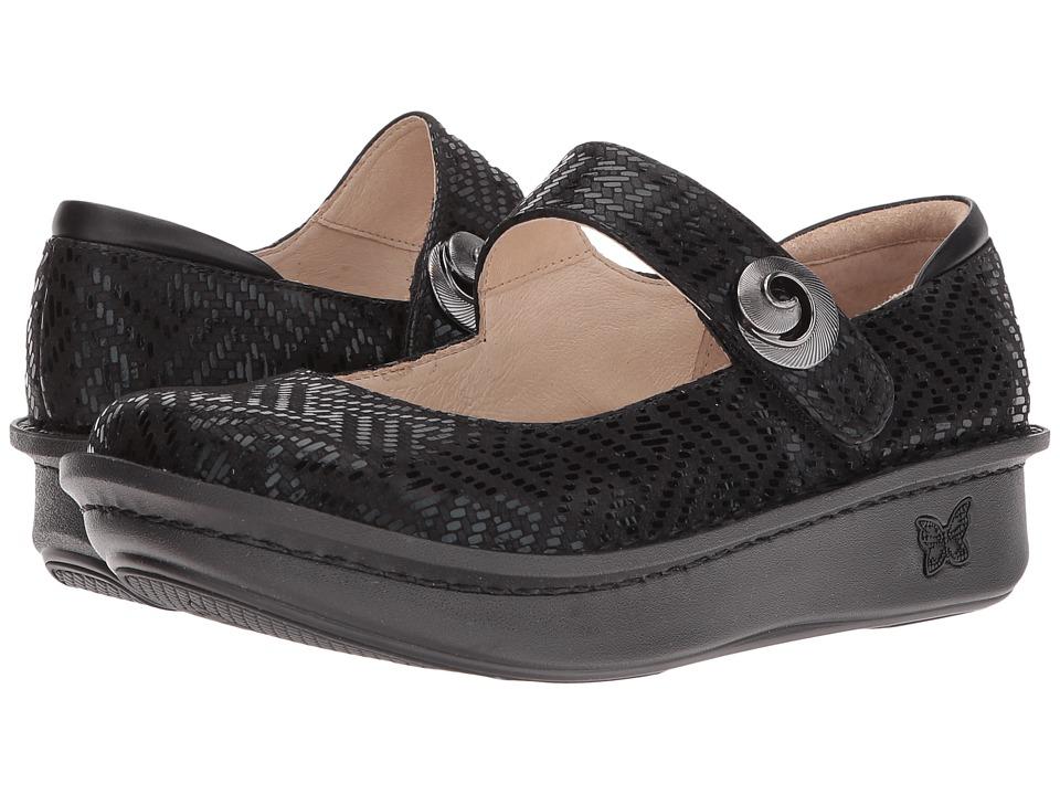Alegria Paloma (Black Dazzler) Maryjane Shoes