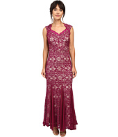 Sangria - Cap Sleeve All Over Lavc Gown Dress