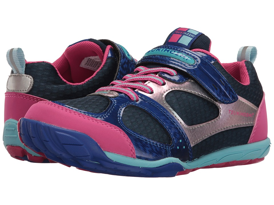 Tsukihoshi Kids Mako HL 2 (Little Kid/Big Kid) (Navy/Pink) Girls Shoes