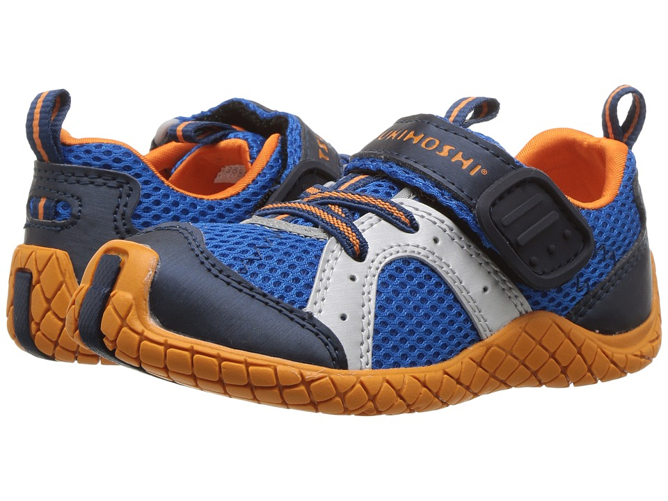 Tsukihoshi Kids - Marina (Toddler/Little Kid) (Cobalt/Orange) Boys Shoes