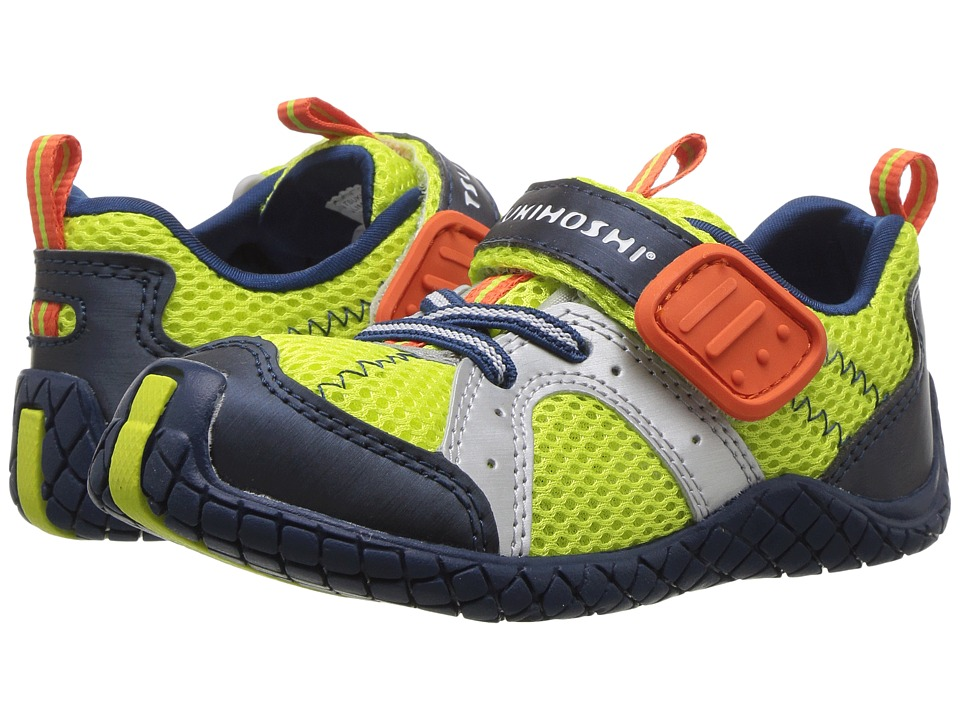 Tsukihoshi Kids - Marina (Toddler/Little Kid) (Lime/Navy) Boys Shoes