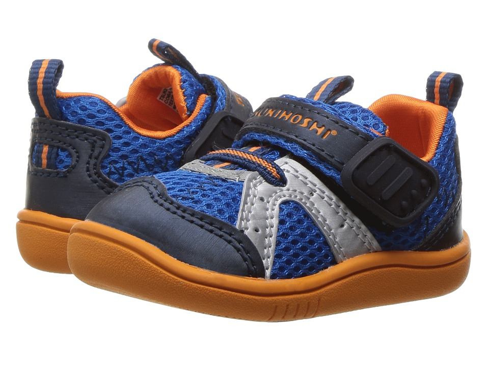 Tsukihoshi Kids B. Marina (Toddler) (Cobalt/Orange) Boy's Shoes