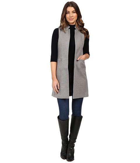Calvin Klein Faux Wool Vest w/ Zips