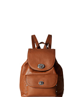 COACH - Polished Pebble Leather Mini Turnlock Rucksack
