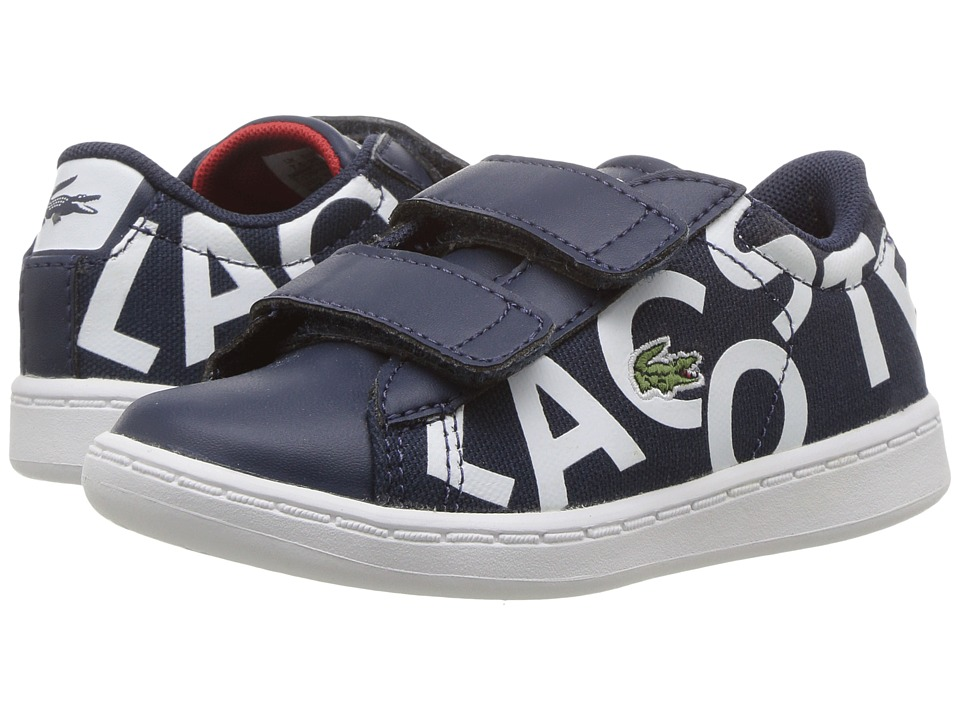 Lacoste Kids - Carnaby Evo 117 1 SP17 (Toddler/Little Kid) (Navy/White) Kids Shoes