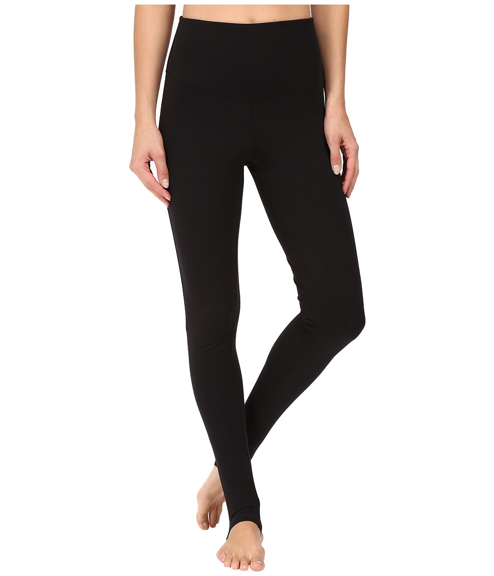 Yummie Compact Cotton Control Madden Stirrup Leggings (Black) Women