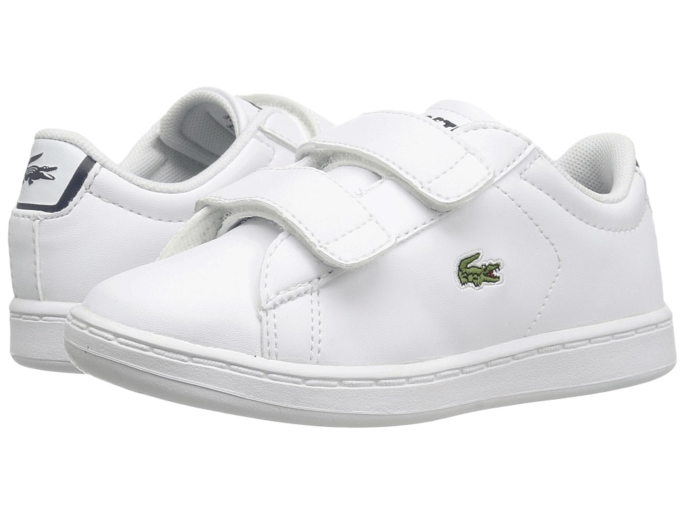 Lacoste Kids - Carnaby Evo BL 1 SP17 (Toddler/Little Kid) (White/Navy) Kids Shoes