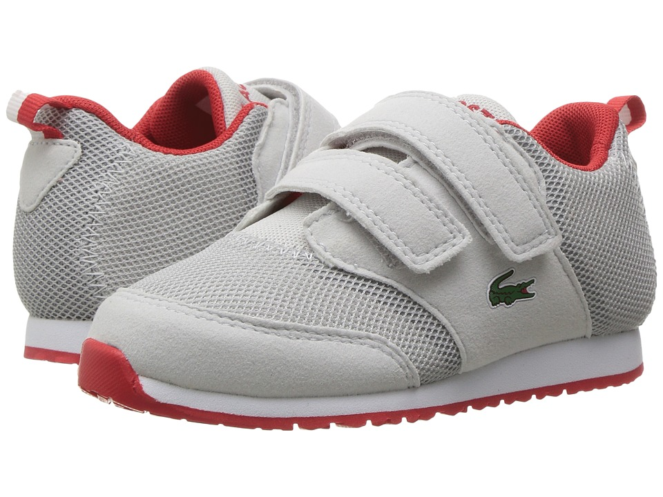 Lacoste Kids - L.ight 117 1 SP17 (Toddler/Little Kid) (Light Grey/Red) Kids Shoes