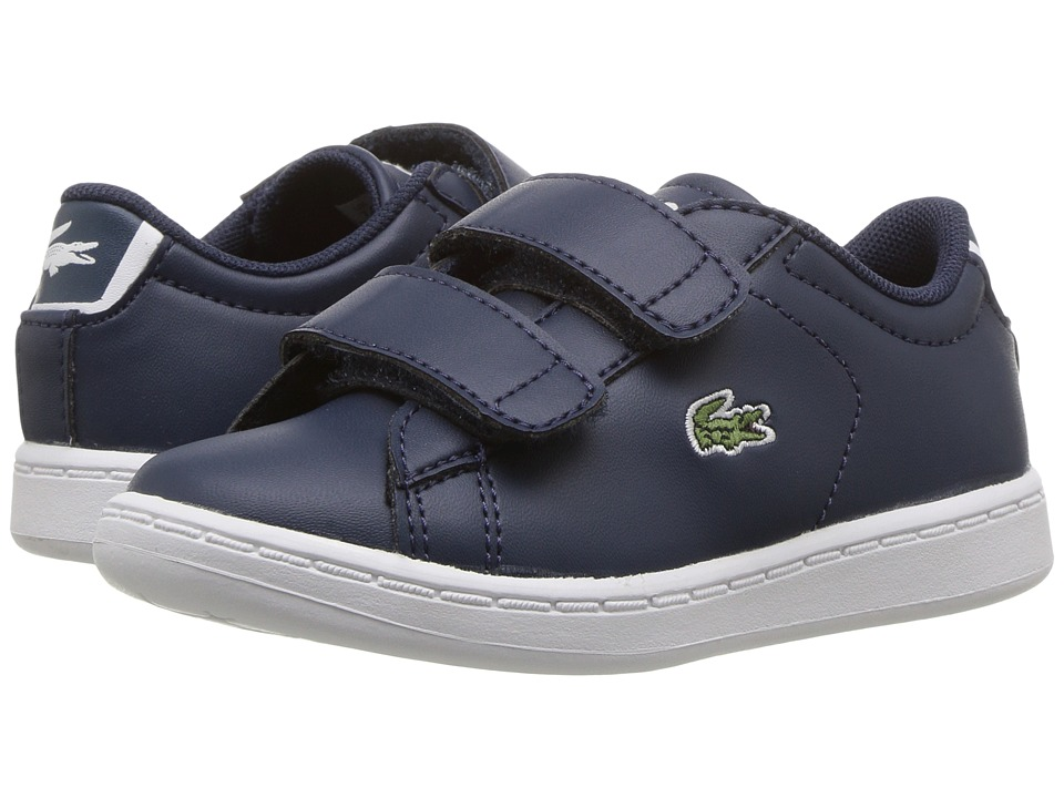Lacoste Kids - Carnaby Evo BL 1 SP17 (Toddler/Little Kid) (Navy/Navy) Kids Shoes
