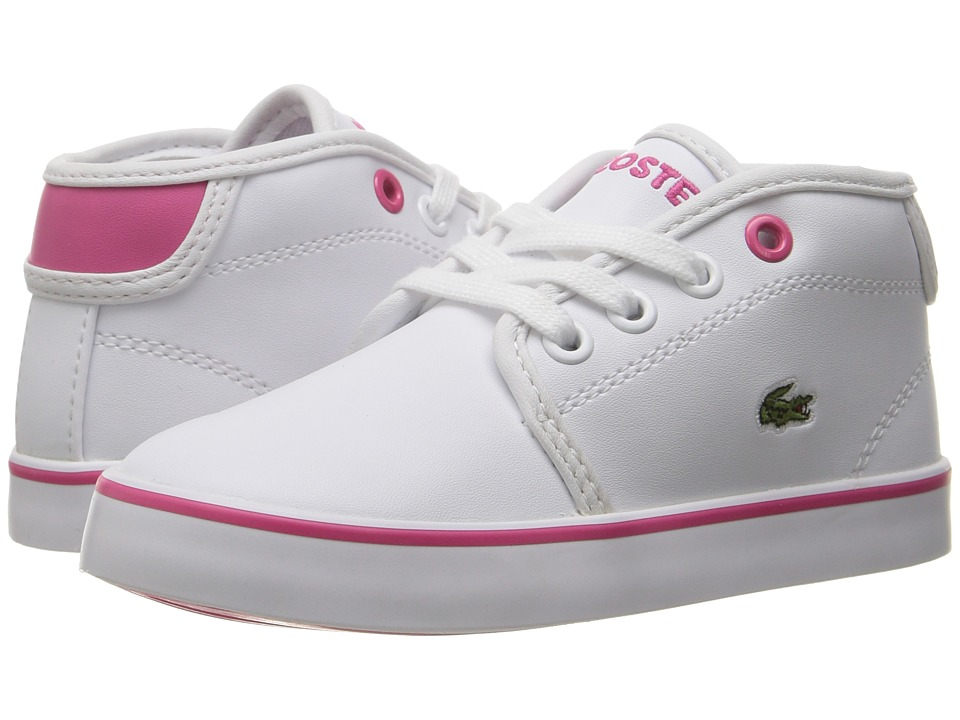 Lacoste Kids - Ampthill 117 2 SP17 (Toddler/Little Kid) (White/Pink) Girls Shoes