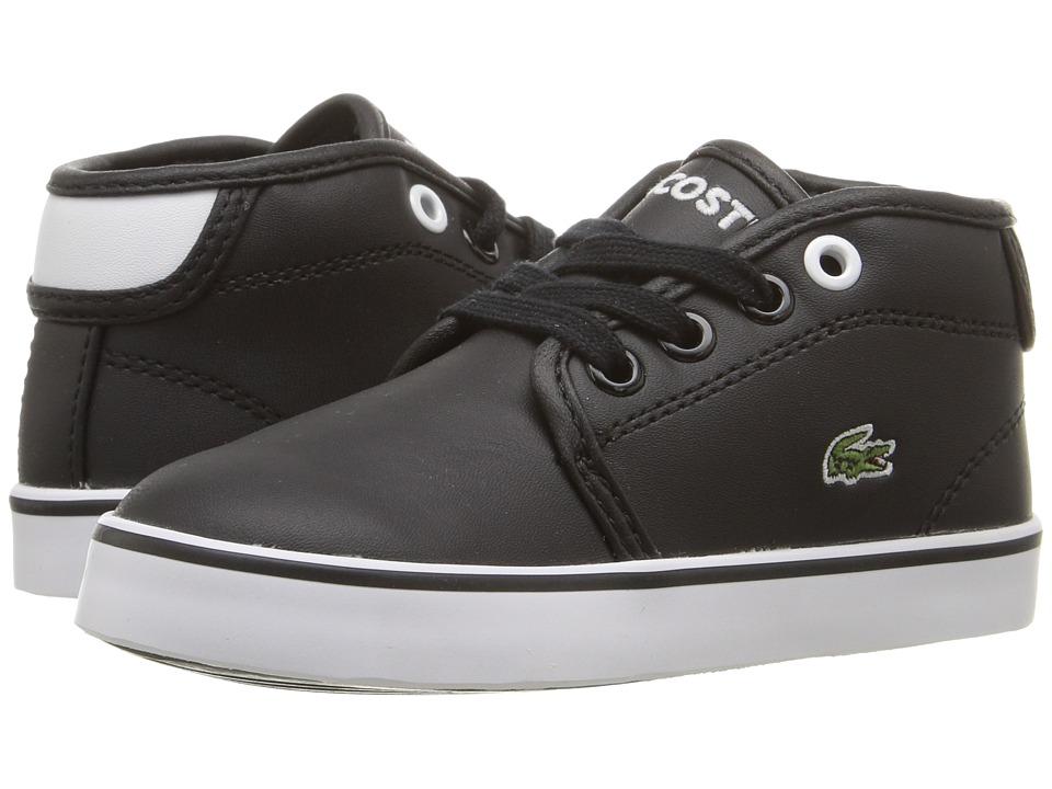 Lacoste Kids - Ampthill 117 2 SP17 (Toddler/Little Kid) (Black/White) Kids Shoes