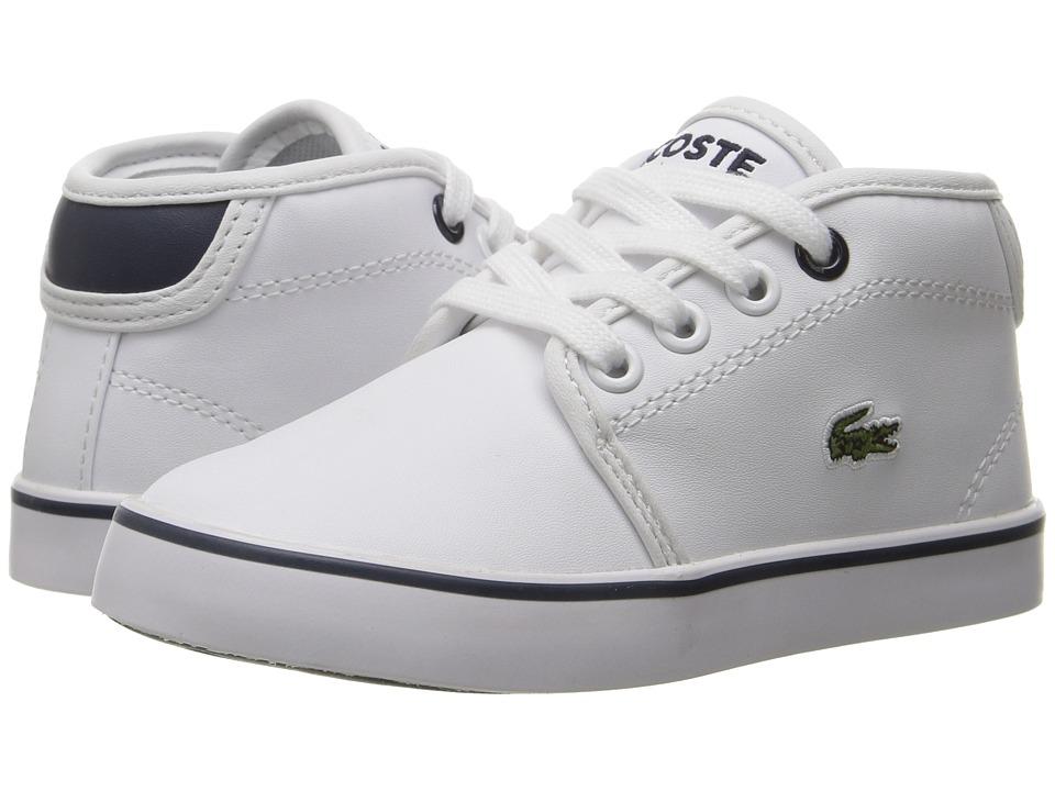 Lacoste Kids - Ampthill 117 2 SP17 (Toddler/Little Kid) (White/Navy) Kids Shoes