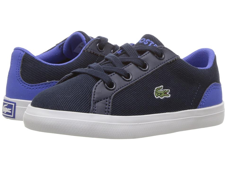 Lacoste Kids - Lerond 117 1 SP17 (Toddler/Little Kid) (Navy/Blue) Kids Shoes