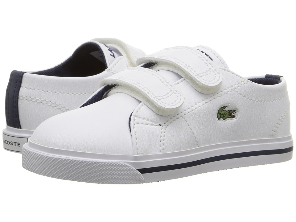 Lacoste Kids - Marcel 117 1 SP17 (Toddler/Little Kid) (White/Navy) Kids Shoes