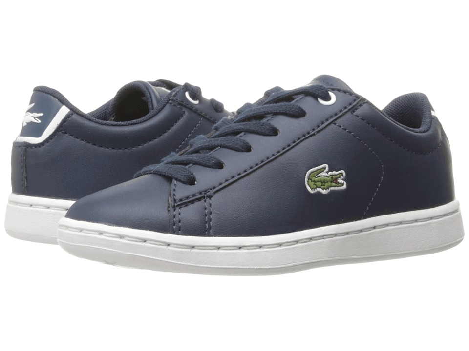 Lacoste Kids - Carnaby Evo (Little Kid) (Navy/Navy) Kids Shoes