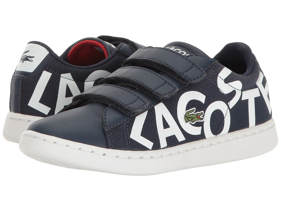 Lacoste Kids - Carnaby Evo 117 1 SP17 (Little Kid) (Navy/White) Kids Shoes