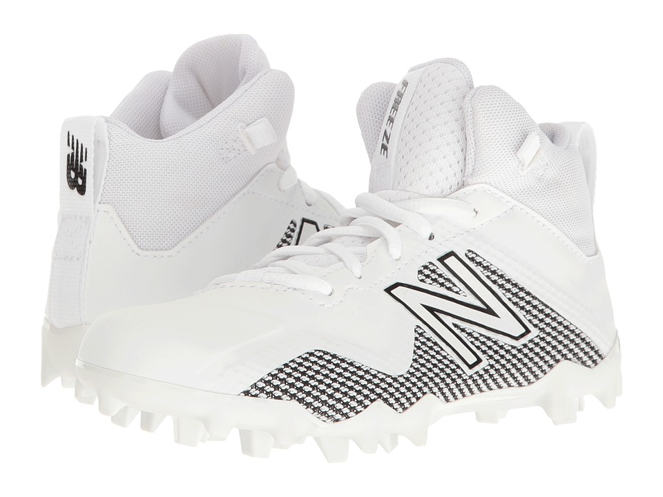 New Balance Kids Freeze LX Jr Cleat (Little Kid/Big Kid) (White/Orange) Boys Shoes