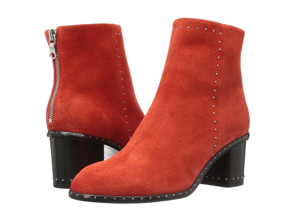 rag & bone Willow Stud Boot (Red Suede) Women