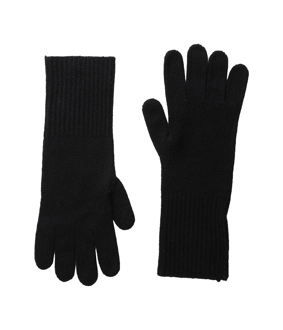 Marc Jacobs Classic Cashmere Gloves (Black) Dress Gloves