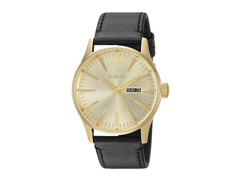 Nixon Sentry Leather - All Gold/Black