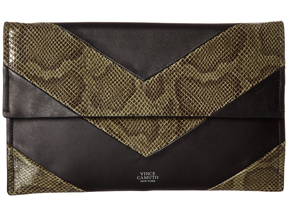 Vince Camuto Fitzi Clutch (Black/Kale) Clutch Handbags