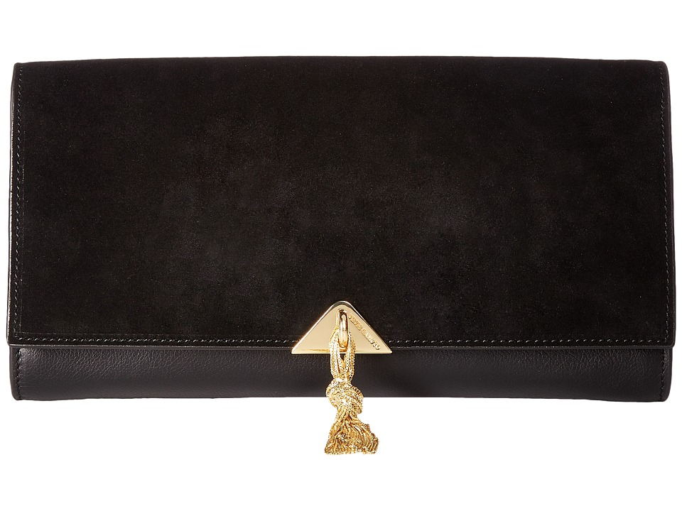 Vince Camuto Monro Clutch (Black) Clutch Handbags