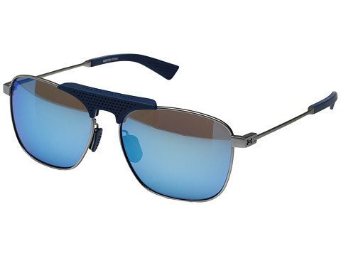 Under Armour Rally - Satin Silver/Navy Frame/Gray/Blue Multiflection Lens