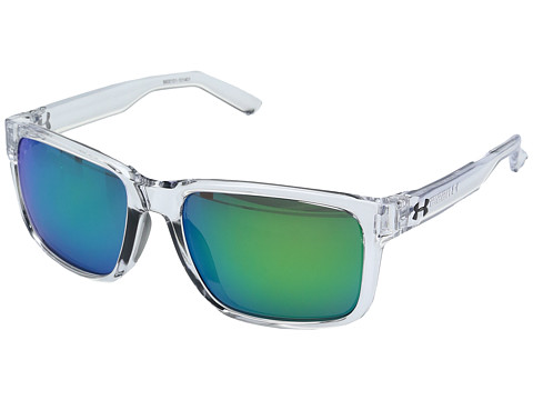 Under Armour Assist - Shiny Crystal Clear/Frosted Clear Frame/Gray/Green Multiflection