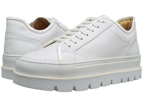 MM6 Maison Margiela Platform Lace-Up Sneaker - White/White