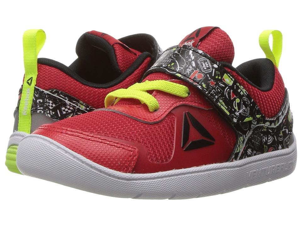 Reebok Kids Ventureflex Stride 5 NAA (Toddler) (Primal Red/Black/Solar Yellow/White) Boys Shoes