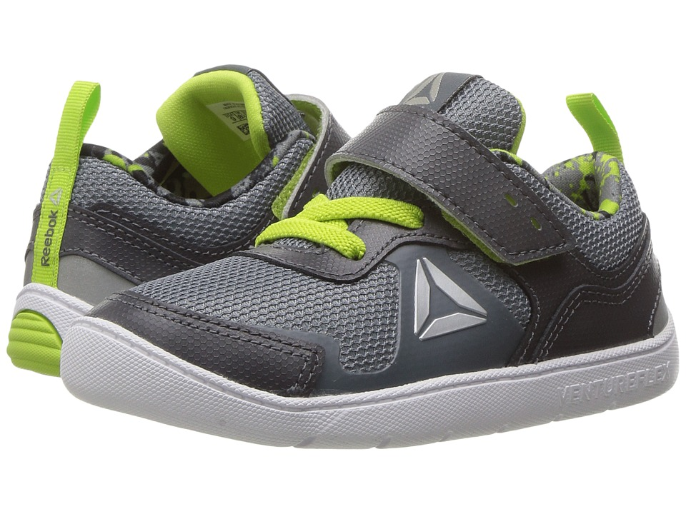 Reebok Kids Ventureflex Stride 5.0 (Toddler) (Ash Grey/Asteroid Dust/Kiwi Green/White) Boys Shoes