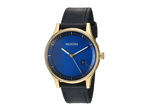 Nixon The Station Leather - Gold/Navy