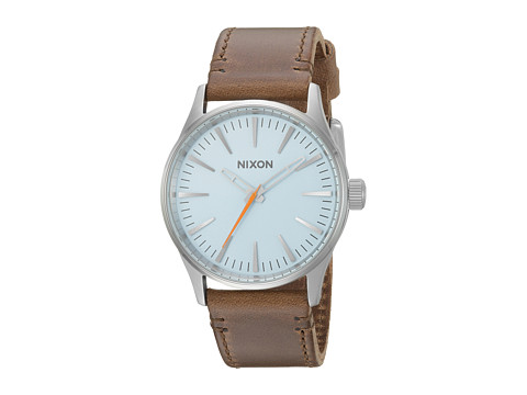 Nixon The Sentry 38 Leather X The Speedster I Collection - Sky Blue/Taupe