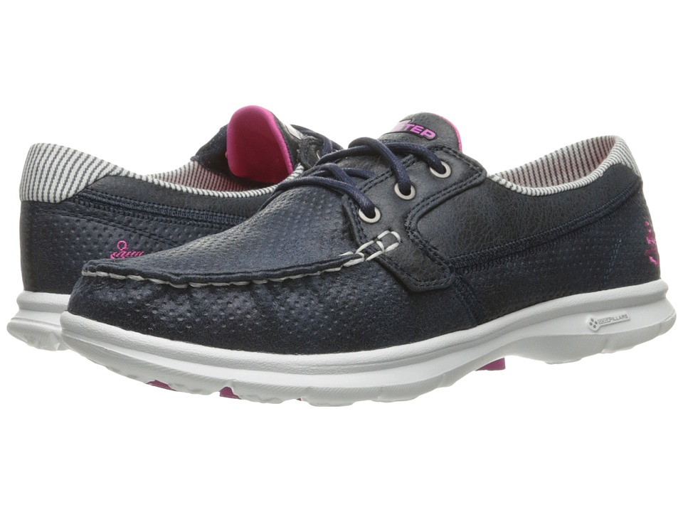 SKECHERS Performance Go Step Shore (Navy/White) Women